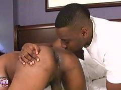 Watch this horny transgirl getting a nice blowjob from Ninth Wonder before he fucks her juicy ass!