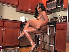 Kimmy is a beautiful black Grooby girl who keeps getting prettier! This hot tgirl has a sexy well toned body, beautiful boobs, a juicy ass and a delicious cock! Enjoy this sexy transgirl as she strips and strokes her cock!